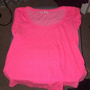 Maurice's hot pink swoop neck t shirt!